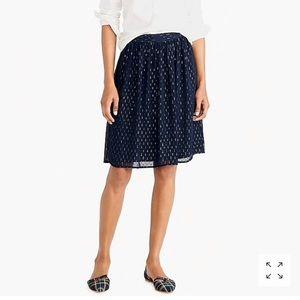 J. Crew Factory Gold Thread Midi Skirt, Size 00